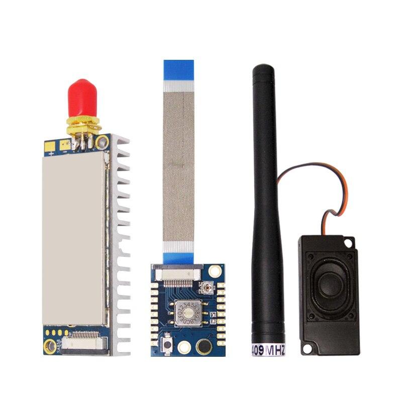 2Sets UHF 400 480mhz 4W Walkie Talkie Wireless RF Module SA858 U Heat Sink Accessory Board