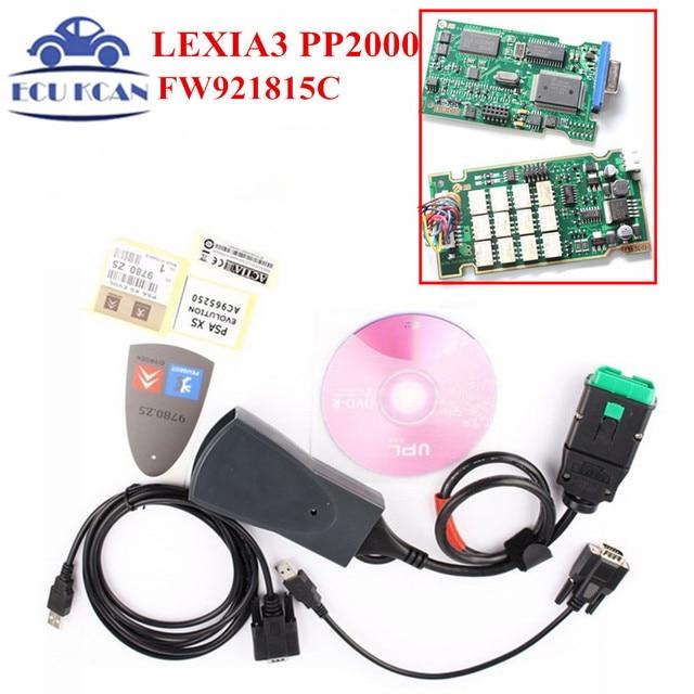Lexia3 For Citroen for Peugeot Serial 921815C With NEC Relays Lexia 3 PP2000 Lexia3 V48 PP2000 V25Diagnostic Tool Diagbox 7.83