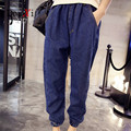 Winter Big Size Jeans Women Harem Pants Casual Trousers Denim Pants Fashion Loose Vintage Harem blue Women Jeans