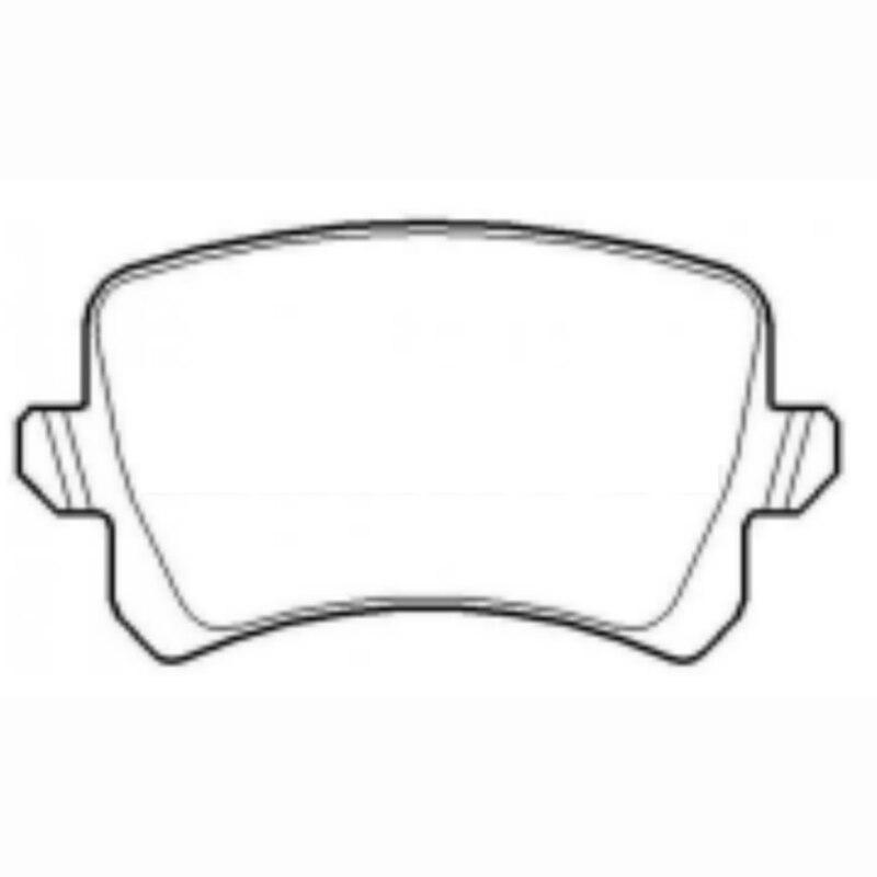 4 paires de plaquettes de frein avant et arrière de voiture pour Changan CS95 F2GZ-2001-A 5N0698451