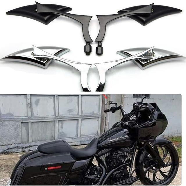2 piezas Universal 8mm 10mm hilo de la lanza de espejos para Harley Davidson XL Bobber Sportster 1200 de 883