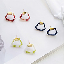 Earrings fashion simple ideas Irregular geometrical brand personality foundation stud earrings