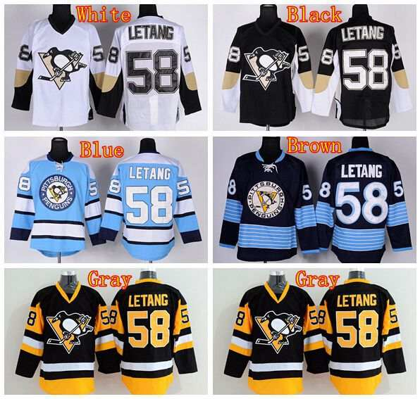 outlet store ecab4 01ab1 Pittsburgh Penguins Ice Hockey 58 Kris Letang Jersey CCM ...