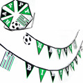 Football Theme Happy Birthday Banner Flag Banner Sports Theme Party Banner Soccer Garland for Kid's Room Boys Photo Prop