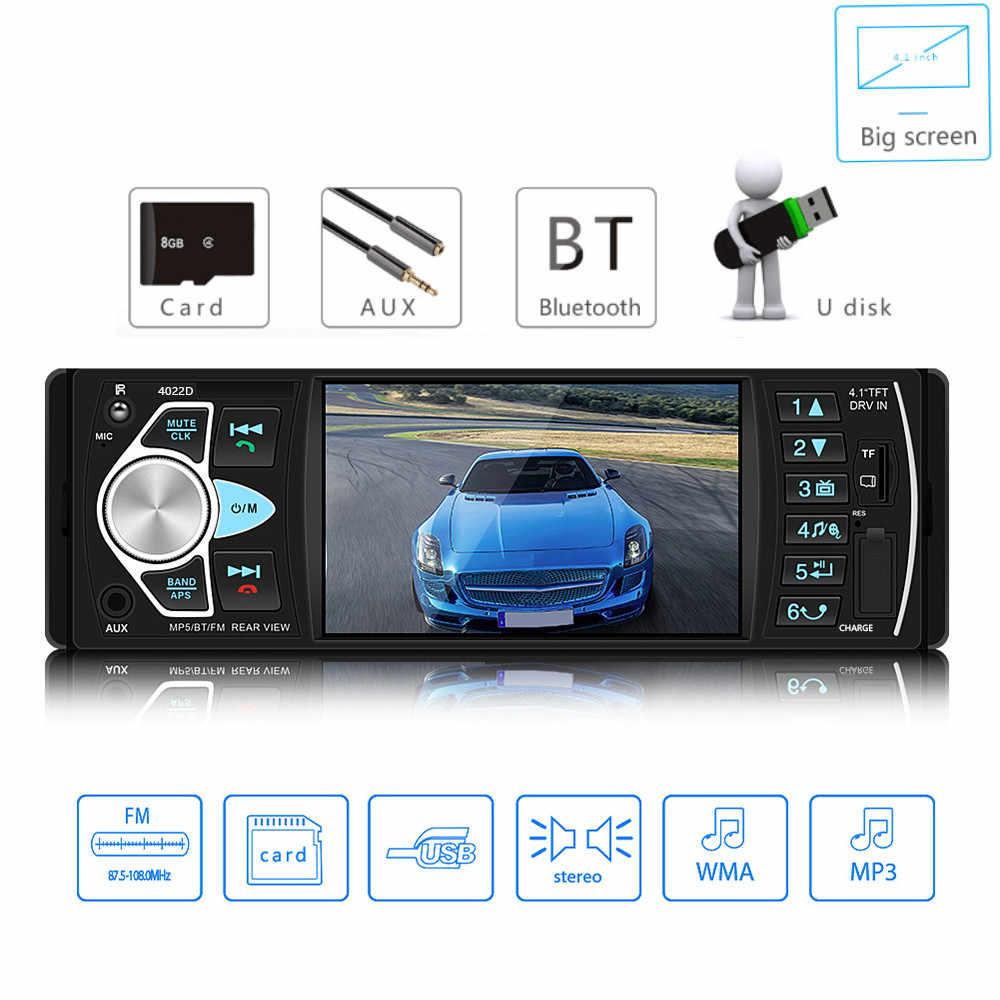 4022D 1 Din автомагнитола Авто Аудио Стерео Авторадио bluetooth Поддержка камеры заднего вида USB рулевое колесо дистанционное управление
