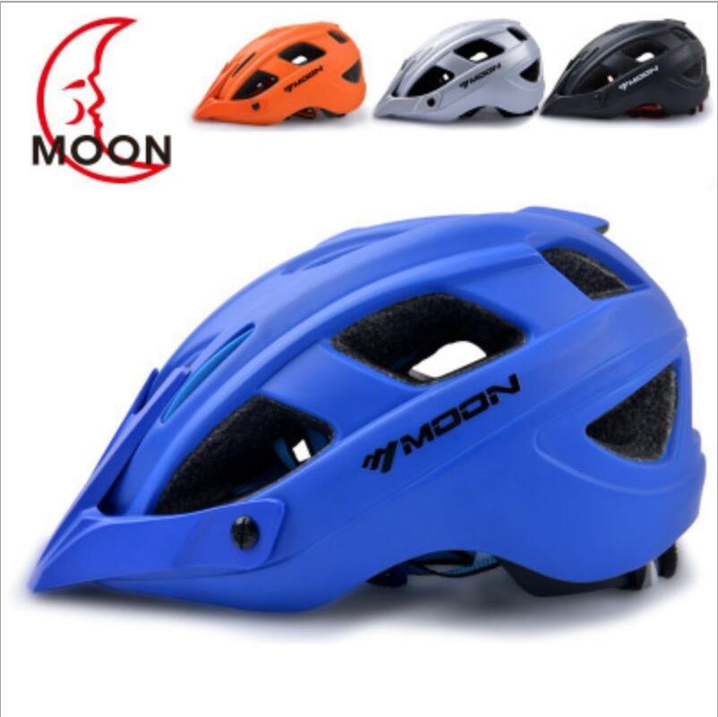 Lune vélo intégré moulage équitation casque VTT route casque sport équitation sécurité équipement 2019 chaud casque couverture