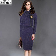Взрыв раздел Hot Spot осень и зима повседневные платья с круглым вырезом длинный рукав Для женщин Винтаж платье женские Модные одежда 1244