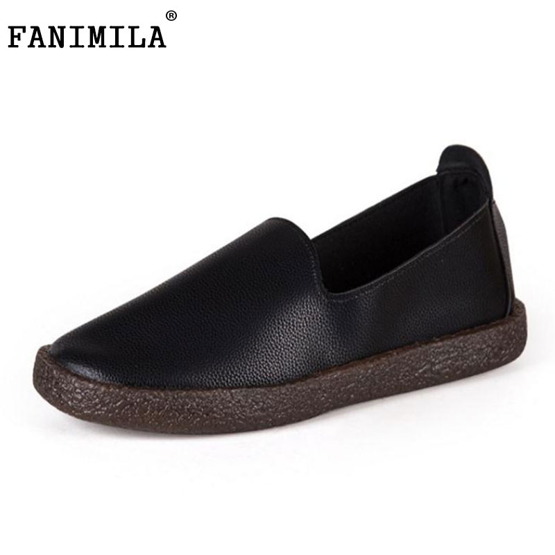 FANIMILA Women Flats Shoes Women Round Toe Solid Color Flats Shoe Office Lady Daily Dating Party Female Soft Footwear Size 35-39