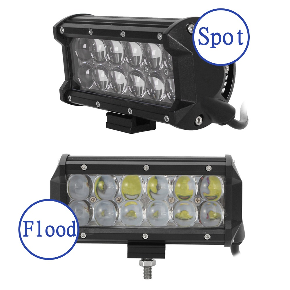 ФОТО 1PCS 36W with Cree LED Chips Work Light Spot Flood 3600LM For Off Roda 4x4 Motorcycle Boat ATV Truck Tractor 4WD Fog Lamp D15
