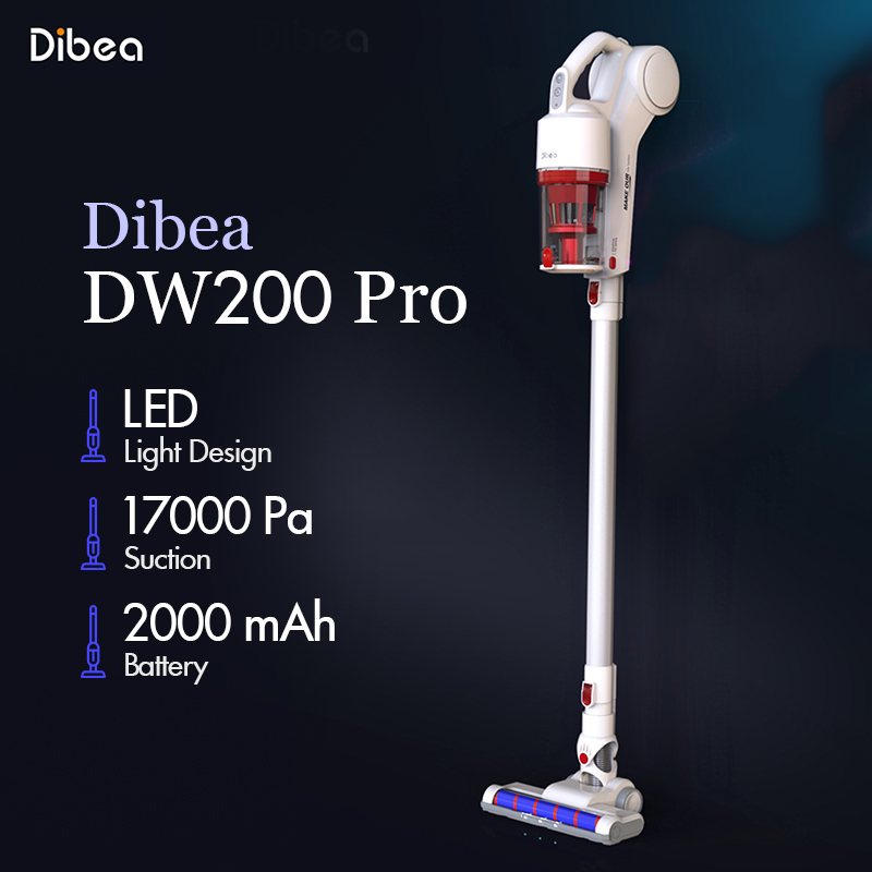 Dibea D200 Pro Handheld Wireless Vacuum Cleaner Portable Cordless Strong Suction aspirador Home Carpet cyclone Dust