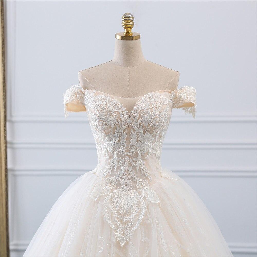 Image 4 - Fansmile, винтажное бальное платье принцессы, качественное Тюлевое свадебное платье, 2019, подгонянное, плюс размер, кружевное свадебное платье невесты, FSM 518F-in Свадебные платья from Все для свадеб и торжеств on AliExpress - 11.11_Double 11_Singles' Day