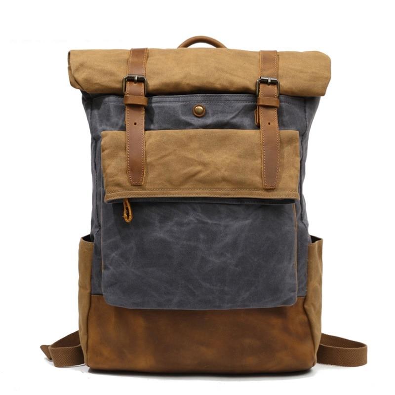 M206 Men Casual Daypacks Vintage Canvas Backpack School Boys Designe Casual Fashion Waterproof Travel Bag Male