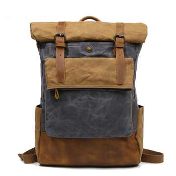 M206 Men Casual Daypacks Vintage Canvas Backpack School Boys Designe Casual Fashion Waterproof Travel Bag Male Back Pack Bagpack - DISCOUNT ITEM  30% OFF All Category