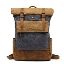 Mochila Casual para hombres M206, mochila de lona clásica, mochila de diseño informal para chicos y escuela, bolsa de viaje impermeable a la moda, mochila para hombre