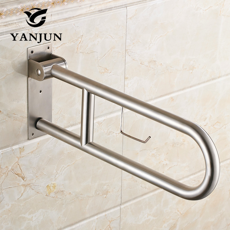 Handrail Wall-Mounted Stair Handrail Banister Kit 100cm Bathroom Grab Bar Rails Industrial Pipe Safety Handrail Support Grab Rail for Stairwells Bathrooms Laundry Kitchen Non-Slip