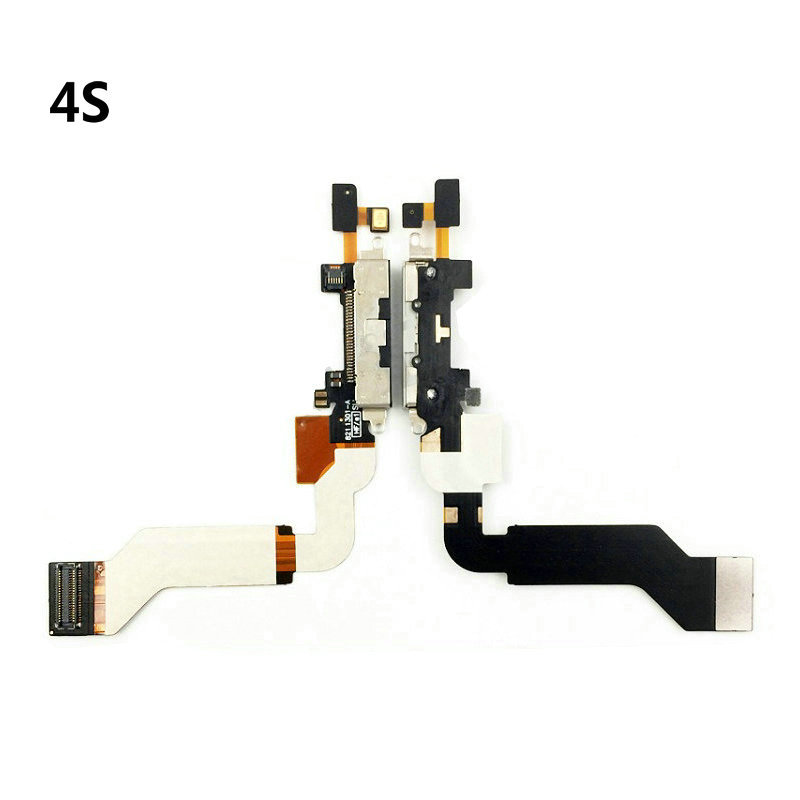Replacement Charging Flex Cable For <font><b>iPhone</b></font> <font><b>4S</b></font> 5 5S 5C SE USB Charger Port <font><b>Dock</b></font> Plug <font><b>Connector</b></font> With Mic Flex Cable image