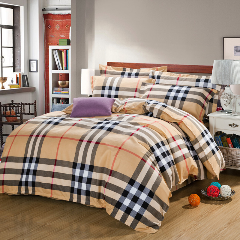 4pcs Luxury Bedding <font><b>set</b></font> Queen size <font><b>Egyptian</b></font> Cotton Sheets Bedsheet Bed linen with Duvet Cover Bed Sheet Cotton Bed Sheets P4 New
