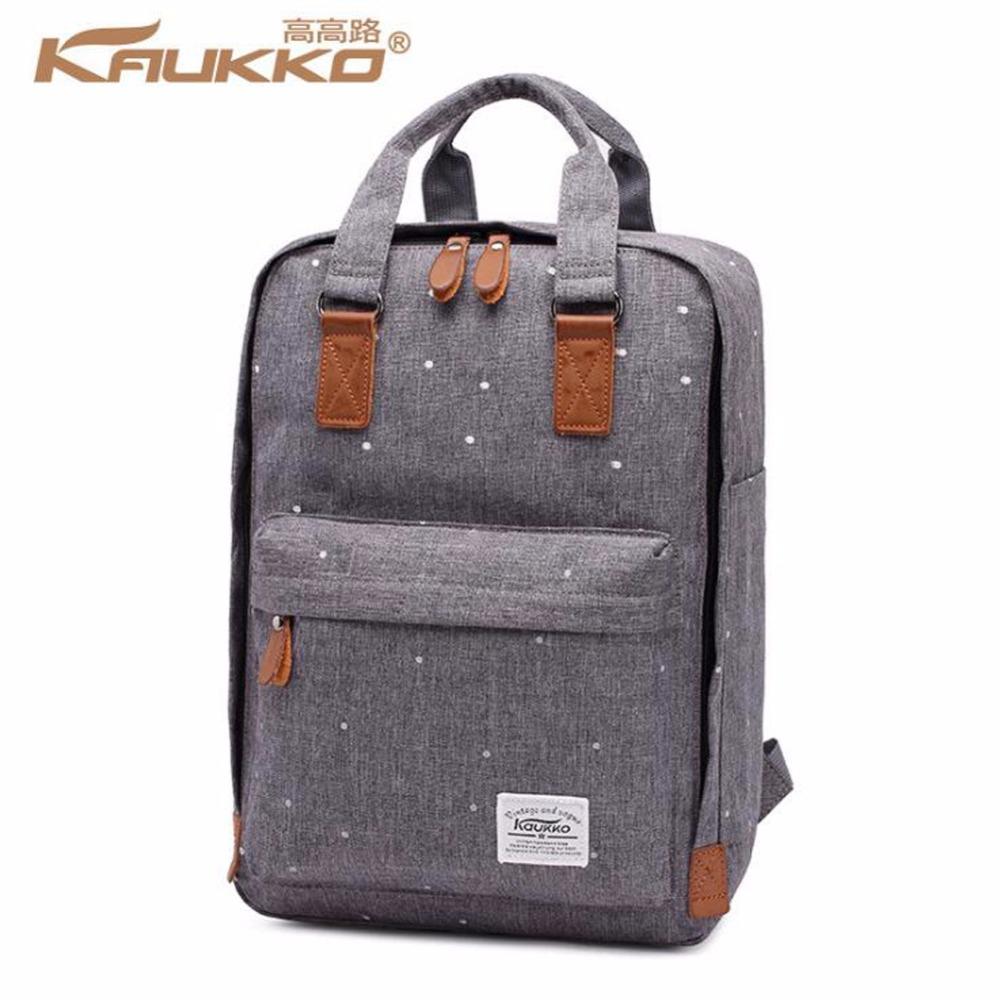 KAUKKO Bergaya Oxford Fabric Backpack Backpack Rucksack Bagchel Tas ringan