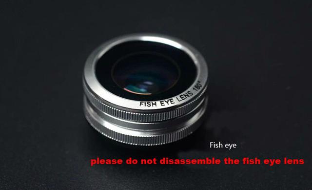 Anel de metal clipe lente do telefone móvel lente olho de peixe grande angular micro lente para Leagoo M8 T10 Tubarão 1 Elite 5 Elite 3 Elite 2 M5 ALÉM de