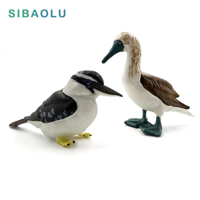 Simulação Da Floresta Kookaburra Patola Figuras de Animais Em Miniatura Modelo Pássaro Estatueta de fadas jardim de Casa decoração acessórios de Decoração