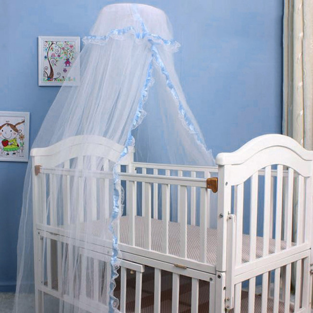 Baby Crib Netting Round Lace Princess Baby Mosquito Net Portable     Baby Crib Netting Round Lace Princess Baby Mosquito Net Portable Baby Bed  Tent Canopy Infant Mosquito