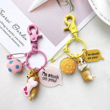 2019 New Dog Keychain Metal PET Keychain Key Ring Bag Charm Animal Couple Keychain Lovely Keychain Car Keyring Gift be natural средство с запахом апельсина для удаления натоптышей callus eliminator orange 540 г