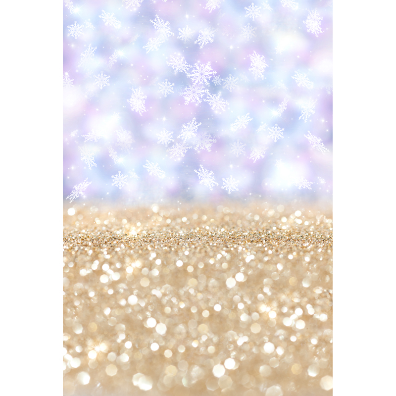 Vinyl Photography Background Snowflakes Light Purple Gold Christmas Children Backdrops for Photo Studio F-1620 winter snow christmas village vinyl photography backdrops 12x6ft vinyl cloth children photo studio background for sale l 896