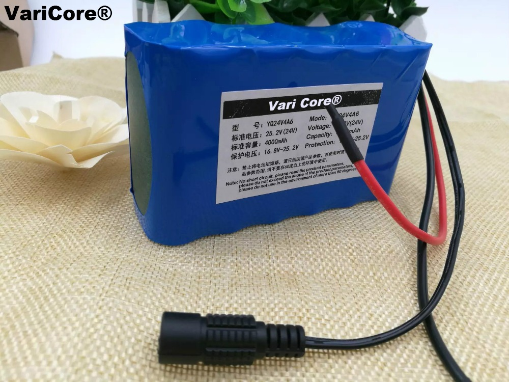 24v 6s2p 4000mah 4ah 18650 Battery Pack Led Lamps Using