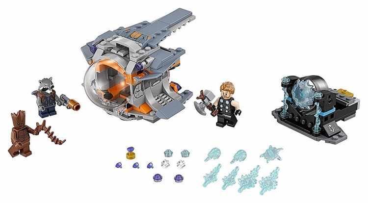 250pcs Super Heróis Blocos de Construção Vingadores Thor Arma Busca Compatível LegoINGlys 76102 Tijolos de Brinquedo