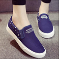 Summer 2017 big large size canvas shoes women shoe 41 42 43 platfrom lazy female flat breathable leisure fashion zapatos mujer