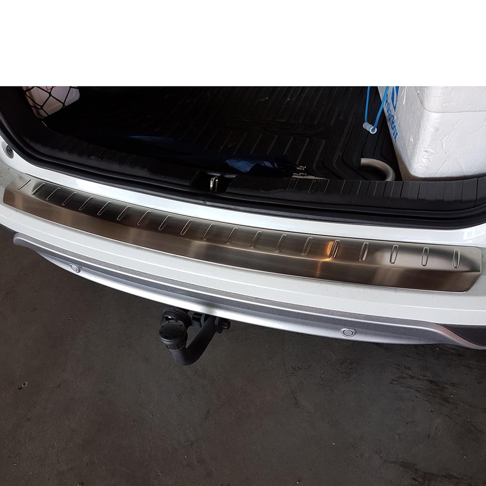 KOUVI 3pcs stainless steel Rear Bumper Protector Tailgate Trunk Guard door sill scuff plate for Honda CRV CR-V 2012 13 14 15 16