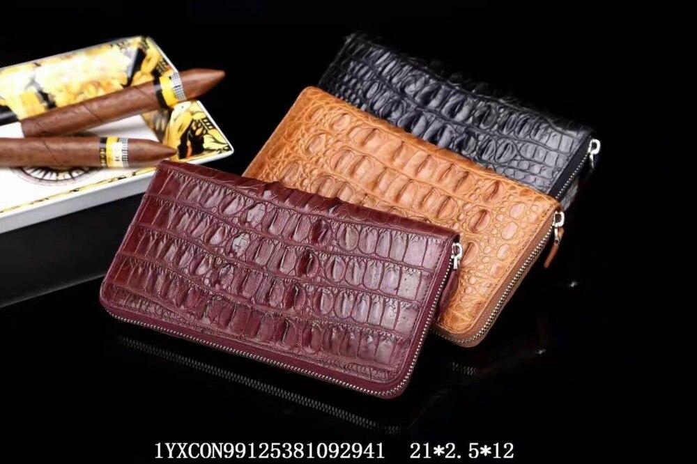 100 Genuine Crocodile tail back skin Leather Alligator Skin font b Wallets b font for font