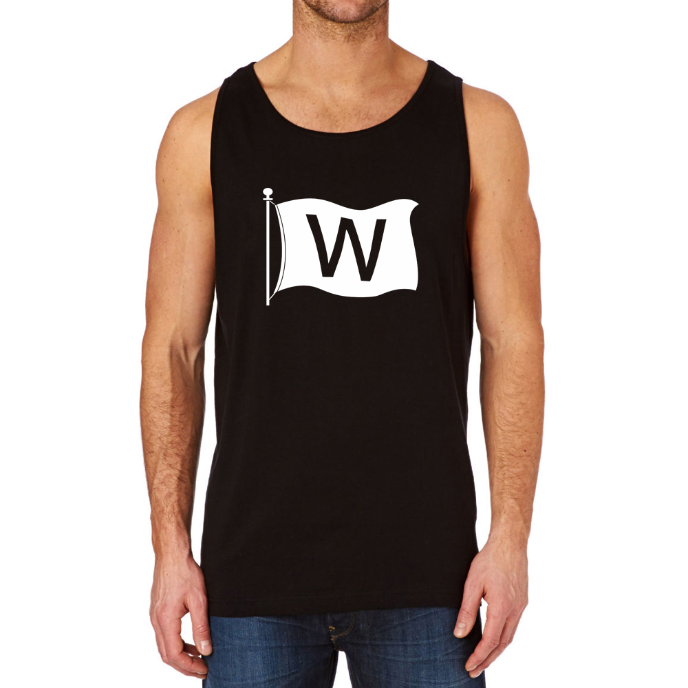 Loo Show Chicago Cubs W Win Flag Black Cotton Summer Casual Tank Top Men-in Tank  Tops from Men s Clothing on Aliexpress.com  c137d50f5018