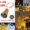 Guirlande lumineuse LED en liège, fil de cuivre, 15 1.5M, lumières féeriques d'extérieur pour vacances, fête de noël, décoration de mariage @ A