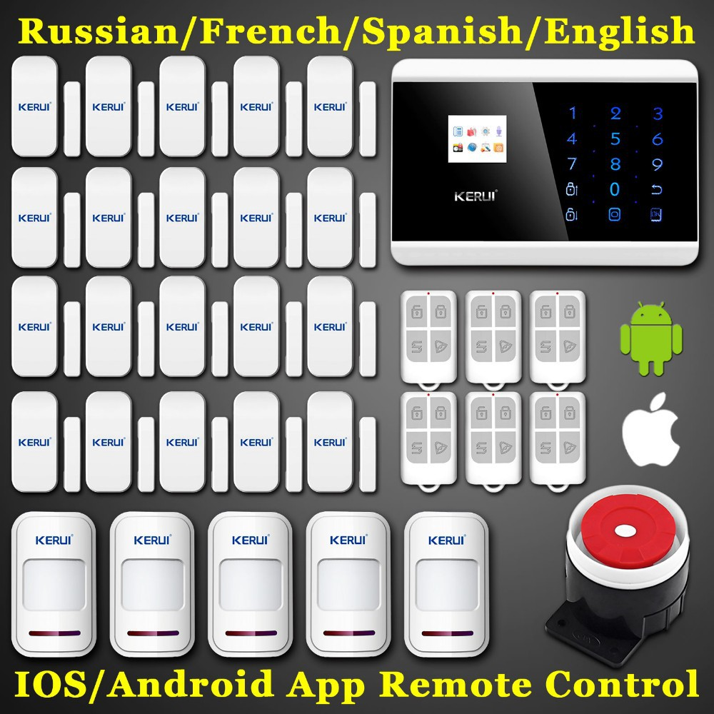 GSM IOS Android APP Touch Screen Keypad LCD display 99 Wireless Zone GSM PSTN Home font
