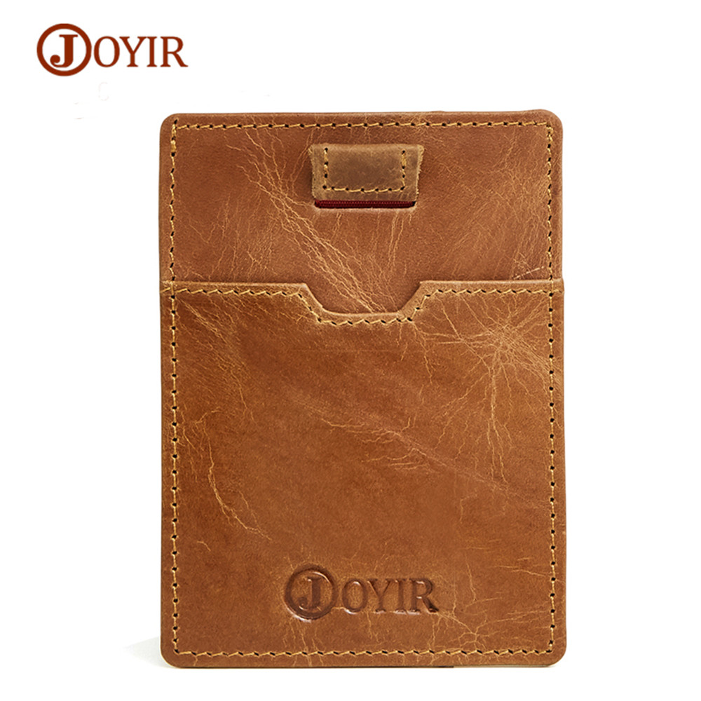 Aliexpress Com Buy Joyir Genuine Leather Card Bag For Women Men