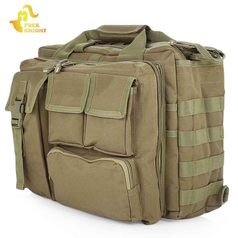d4ac827f7990 Free Knight Tactical Shoulder Bag Outdoor Molle Military Messenger Bag  Computer Handbag Briefcase Laptop Camera Shoulder