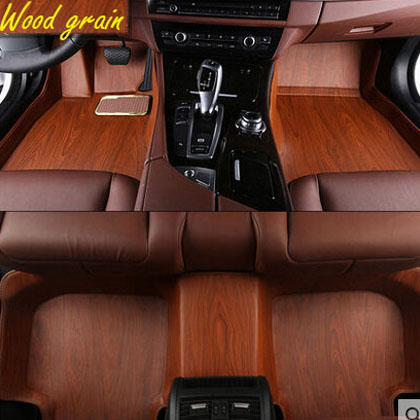 Personality 3d Wood Grain Car Floor Mar For Jeep Grand