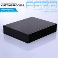 215*52*263mm (w * h * l) caja de proyecto carcasa De Aluminio extruido recintos