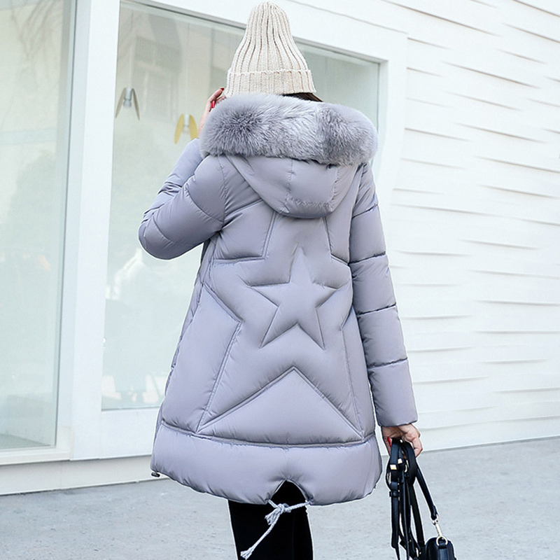 Wmwmnu 2017 New Women Winter Coat Warm Winter Thick Hooded Parka Womens fur collar Jackets Female Overcoat High Quality ls633