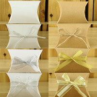10pc Lot Elegant Candy Boxes For Wedding Sweet Bag Wedding Favors Gift For Guest Bride Groom