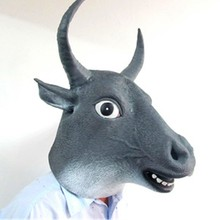 2018 Newly Style Bull Fierce Animal Full Face Rubber Latex Mask Halloween Cosplay Party