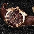 Мужские часы LIGE  брендовые Роскошные водонепроницаемые кварцевые часы с 24 часами  коричневые кожаные спортивные наручные часы  2019