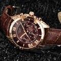 Reloj LIGE para hombre, de lujo, resistente al agua, 24 horas, reloj de cuarzo, reloj de pulsera deportivo de cuero marrón, reloj Masculino 2019