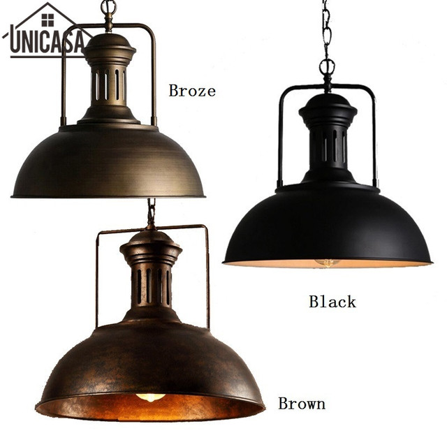 Antique Bar Lights Loft Ceiling Lamp Wrought Iron Industrial - Industrial island lighting fixtures