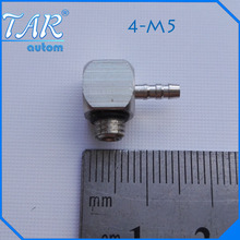 50 Pieces Spot sales SMC Miniature barb fitting T-bend through 4-M5 6-M5-through gas nozzle M-5ATHU-4