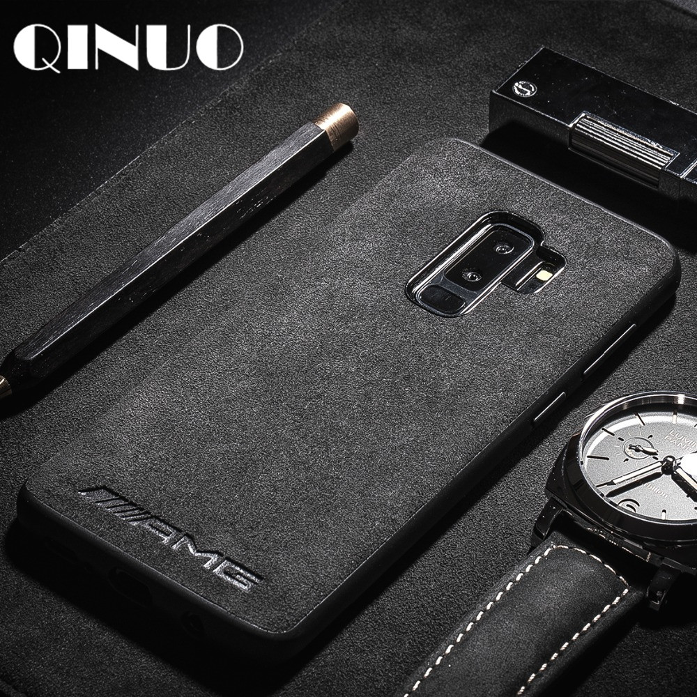 huge selection of cc2f6 0f314 US $1.96 20% OFF|Luxury Cool AMG BMW LOGO Suede Case For Samsung S7 Edge S8  S9 S10 Plus Note 8 9 J4 J6 A7 A8 2018 leather Fur Telefon Kilifi Capa-in ...