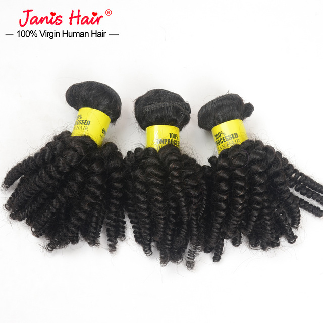 Cambodian Virgin Hair Finger Coils 6 Bundles 7a Rosa Hair Product