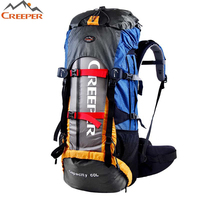Big Capacity 60L Waterproof Rucksack External Frame Fishing Climbing Camping Hiking Backpack Professional Mountaineering Bag