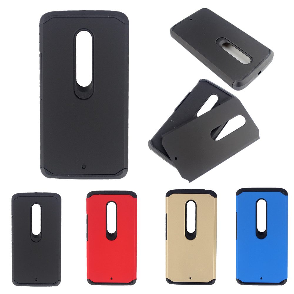 Hybrid TPU + Plastic Armor Shockproof Hard Case For Motorola Moto X Play X3 Lux XT1562 XT1563 Cover Protective Cases Card Holder